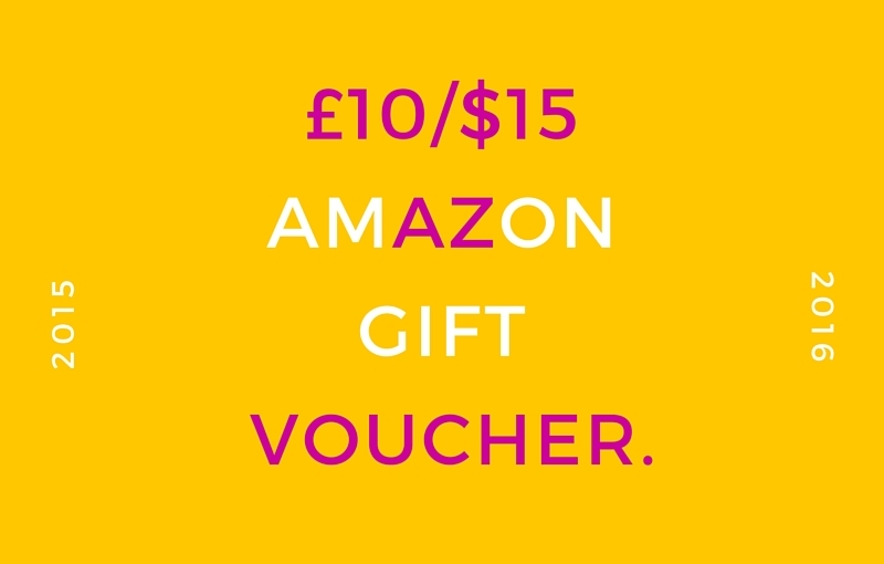 Blogiversary Giveaway – £10/$15 Amazon Gift Voucher – International