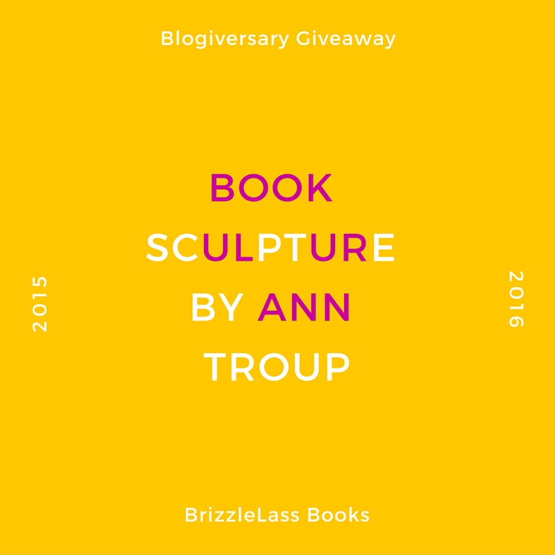 Blogiversary Giveaway – Book Sculpture by AnnTroup