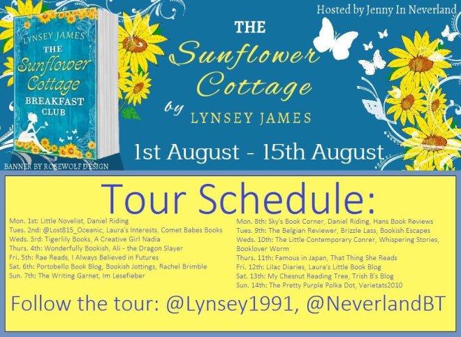 The Sunflower Cottage Breakfast Club - Tour Schedule
