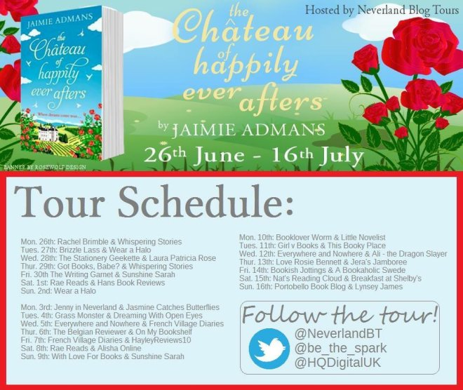 The Chateau of Happily Ever Afters - Tour Schedule