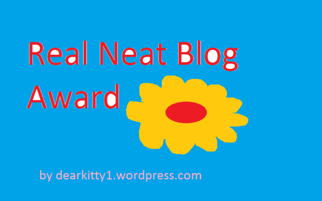 AWARD: Real Neat Blog Award