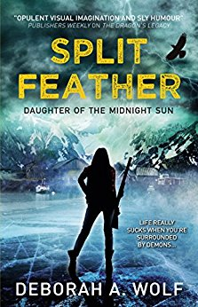 #Review: Split Feather by Deborah A. Wolf @Bard_Queen @TitanBooks @lydiagittins