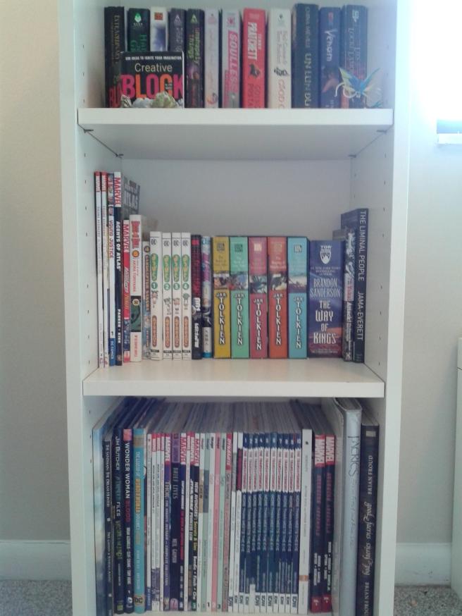 Kristens bookshelf