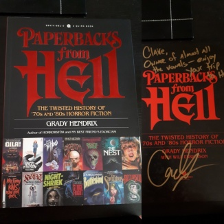 Paperbacks from Hell SIgned - Grady Hendrix