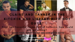 Claire and tanner in the kitchen & library with Hot guys_ - Michael Main Banner