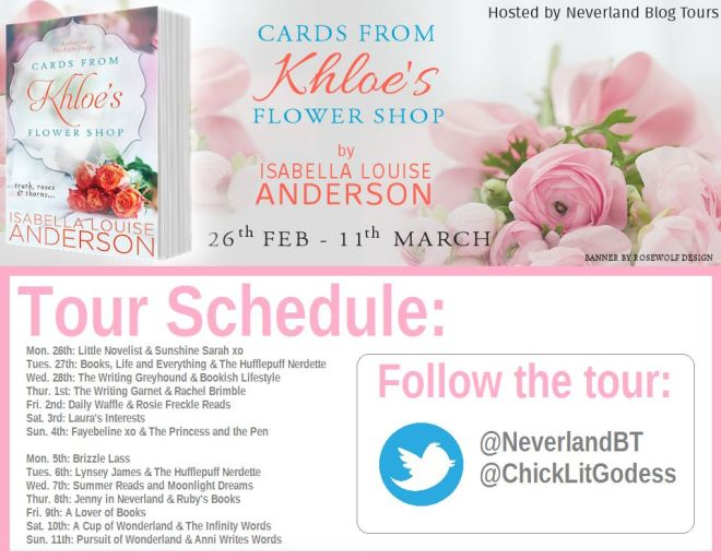 Card's From Khloe's Flower SHop - TOur Schedule